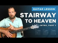 "Learn the intro to ""Stairway to Heaven"" (guitar lesson w/ tabs) Guitar Lessons For Kids, Blues Guitar Lessons, Electric Guitar Lessons, Music Lessons, Art Lessons, Easy Guitar Songs, Guitar Tips, Stairway To Heaven Guitar, Guitar Chords Beginner"