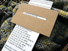Pure genius. Keep track of the row your working on...Make a simple pattern bookmark out of cardboard.
