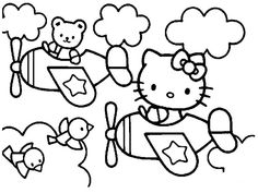 Airplane Coloring Page  My Colorings  Pinterest  Aeroplanes and
