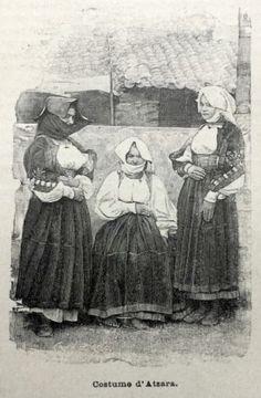 1895-Incisione-COSTUMI-SARDI-ATZARA-SARDEGNA-NUORO