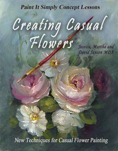 Jansen Art Store - B5012E - Creating Casual Flowers- Download, $17.95 (http://www.jansenartstore.com/b5012e-creating-casual-flowers-download/)