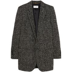 Saint Laurent Tweed blazer (21.135 ARS) ❤ liked on Polyvore featuring outerwear, jackets, blazers, coats, tweed jacket, tailored jacket, tweed blazer, wool tweed blazer and yves saint laurent