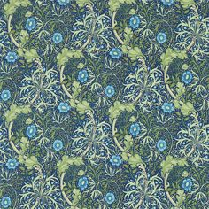 The Original Morris & Co - Arts and crafts, fabrics and wallpaper designs by William Morris & Company | Products | British/UK Fabrics and Wallpapers | Morris Seaweed (DM3P224472) | Archive III Prints