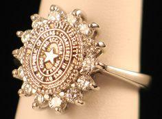 The University of Texas.  14kt white gold 1.50 ctw. All Diamond Yeeehaaa!