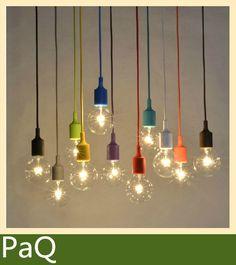 Muuto e27/e26 lustre lampe 1 pcs luminaire suspendu ligne de couleur en silicone titulaire pendentif ~ pas bulb~