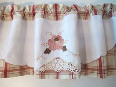 Waverly Plaid Valance Upcycled LInens Vintage by BettyandBabs, $42.00