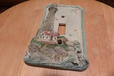 Lighthouse Switch plate cover, Resin light house cover, switch plate cover, light switch cover by Morethebuckles on Etsy