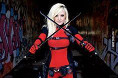 Lady Deadpool Cosplay by Jessica Nigri Deadpool Cosplay, Lady Deadpool, Superhero Cosplay, Marvel Cosplay, Female Deadpool, Amazing Cosplay, Best Cosplay, Geisha, Jessica Nigri Cosplay