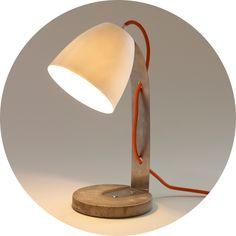 http://www.serendipity.fr/lampe-a-poser-en-beton-et-porcelaine/8-2419/p Lighting inspiration