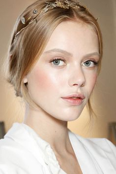 timeless + fresh + polished + natural makeup | Valentino