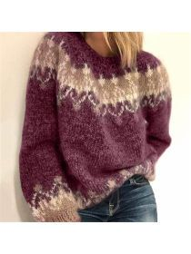 Damenmode Langarm Rundhals Lose Pullover – cicilady Source by martina_maerz sweater outfit Fair Isle Pullover, Raglan Pullover, Pullover Sweaters, Knitting Sweaters, Sock Knitting, Free Knitting, Loose Sweater, Long Sleeve Sweater, Warm Sweaters