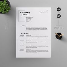 Resume cv by reuix studio on creativemarket creative resume template 1 page professional resume photo resume template job seeker resume temp Graphic Design Resume, Letterhead Design, Resume Design Template, Cv Template, Resume Templates, Professional Resume Design, Newsletter Templates, Resume Layout, Resume Tips