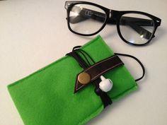 Green Wool Felt IPhone Case/Wallet by IslandFitz by IslandFitz, $17.00
