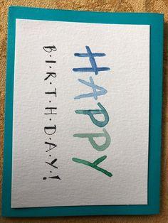 diy birthday cards for friends handmade Happy Birthday Cards Handmade, Creative Birthday Cards, Birthday Gift Cards, Birthday Cards For Friends, Bday Cards, Watercolor Birthday Cards, Birthday Card Drawing, Watercolor Cards, Birthday Doodle