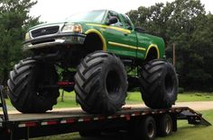 Monster mud trucks | John Deere Monster Truck! Bog Truck Mud Bigfoot Tractor Tires Huge ...