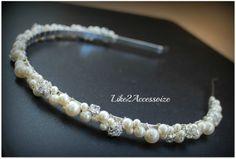 Swarovski Pearl Headband Bridal Tiara Headband by Like2Accessorize