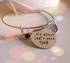 My Story Isn't Over Yet - Project Semicolon - Personalized Custom Hand stamped
