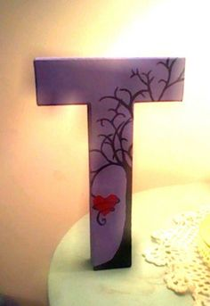 Tree Painted Letters by NiftyNonsense on Etsy, $7.00