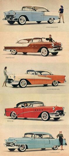 GM's 1955 line of cars
