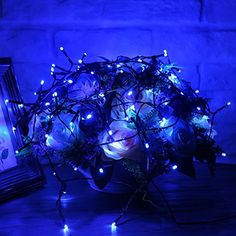 Ehome Solar String Light 100LED 39FT 2 Mode Outdoor Waterproof Fairy Light for Garden Christmas Festival Wedding Party Decoration Blue -- You can find more details by visiting the image link.  This link participates in Amazon Service LLC Associates Program, a program designed to let participant earn advertising fees by advertising and linking to Amazon.com.