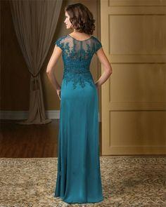 K2283-Elegant-Teal-Color-V-neck-Chiffon-Lace-Appliqued-Mother-of-the-Bride-Dresses-Plus-Size (1)_conew1