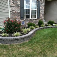 No matter where you live, there's nothing better than relaxing outdoors on a warm summer night watching your backyard landscaping ideas come to life. Front Garden Landscape, Small Front Yard Landscaping, House Landscape, Outdoor Landscaping, Outdoor Gardens, Landscape Design, Landscaping Retaining Walls, Ranch Landscaping Ideas, Front Yard Ideas