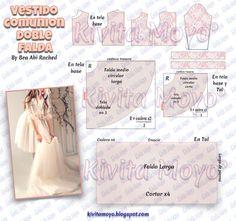 Formal Dress Patterns, Kids Dress Patterns, Clothing Patterns, Crochet Backpack Pattern, Communion Hairstyles, Barbie Sewing Patterns, Patterns Of Fashion, Communion Dresses, Diy Dress