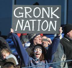 In support of Rob Gronkowski - Super Bowl XLVI Sendoff Rally, Gillette Stadium, Sun, Jan 29, 2012. #Patriots