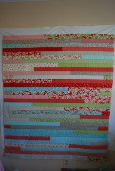 Crafty Garden Mom: Jelly Roll Race Quilt + Tutorial