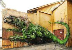 Художник превращает мусор в животных, чтобы напомнить людям о загрязнении окружающей среды.
