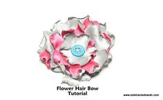 Flower Hair Bow Tutorial -- make for a little girl or help a bigger girl to make for herself