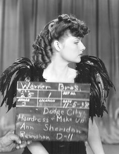 """Ann Sheridan, Makeup and Hairdo test, """"Dodge City"""" Hollywood Actresses, Old Hollywood, Hollywood Stars, Classic Hollywood, The Beatles Help, Ann Sheridan, Dodge City, Errol Flynn, Thing 1"""