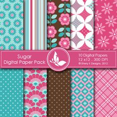Sugar This listing is for 10 printable High Quality Digital papers. Each paper measures 12 x 12 inch, 300 DPI, JPEG format. Great for scrapbooking, making cards, invitations, tags and photographers. Keywords: Pink, Grey, Black & White, Text, Valentine, Ornament, Flowers, Argyle, folwers, modern, Strips, Polka Dots, Love, Music Note, Script, Paris, Valentine's day, Valentine, Scrapbooking Paper, Digital Papers, Shery K Designs, Printable Papers, Printable Background, Printable Patterns.