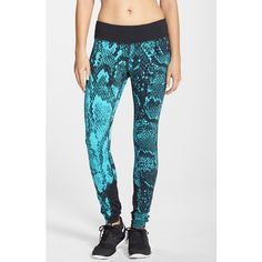 fdb4cb7e1c Women's Nike 'Epic Lux' Snakeskin Print Running Tights (157 CAD) ❤ liked on  Polyvore featuring activewear, activewear pants, nike, nike activewear, ...