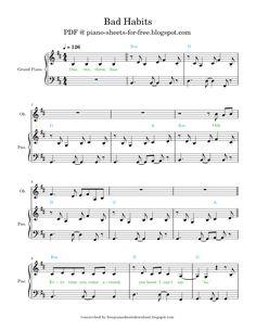 Easy Piano Sheet Music, Free Sheet Music, Ed Sheeran, Sheet Music, Free Piano Sheet Music