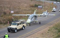 AHRLAC being moved by road. Experimental Aircraft, Military Guns, Aircraft Design, South Africa, 4x4, Aviation, How To Plan, Airplanes, Modern