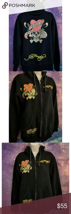 Ed Hardy Hoodie Size Medium, Great Condition Ed Hardy Tops Sweatshirts & Hoodies