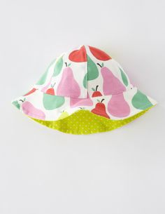 5fc03839be5 I ve spotted this  BodenClothing Printed Reversible Hat Candy Pink Little  Pears Baby Girl