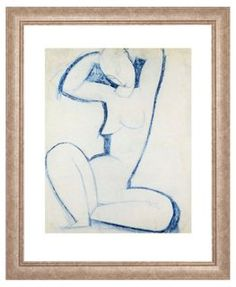 Framed figure drawings