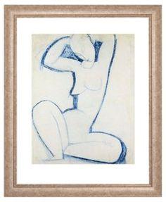 Framed figure drawings