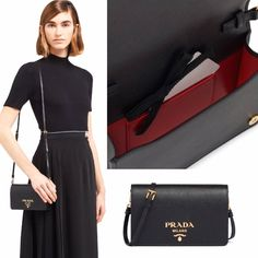 Saks Off 5th offers extra 20% off on $100+ purchase with code. Now $799 ( Was $1,290) Prada Handbags, Mini Bag, Dresses For Work, Leather, Fashion, Moda, Prada Purses, Prada Bag, Fasion