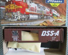 Bev-Bel Athearn HO Kit- 50' Sgl Dr Boxcar DSS&A RR #15538