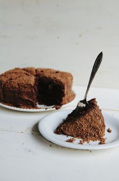Brooklyn Blackout Cake by hummingbirdhigh:  New York's famous cake from the 70s! Chocolate cake layered with a fudgy custard, then covered in cake crumbs. #Cake #Chocolate