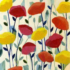 Cheerful Poppies by artist, Carrie Schmitt. www.carrieschmittdesign.com