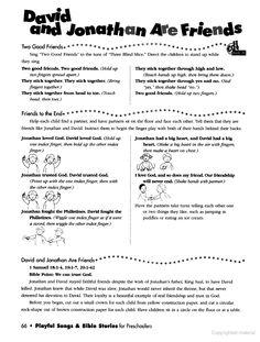 Preschool bible david on pinterest david and goliath for David and jonathan friendship craft