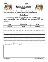 Synonym Worksheet - Have Fun Teaching