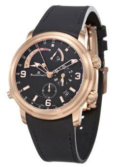 Blancpain Leman GMT Alarm Men's Automatic Watch 2841-36B30-64B#Blancpain, Leman, Men's Watch, 18K Rose Gold Case, Rubber Strap, Swiss Mechanical Automatic (Self-Winding), 2841-36B30-64B❤Thank❤You❤