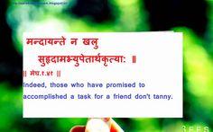 Sanskrit Quotes On Friendship. QuotesGram