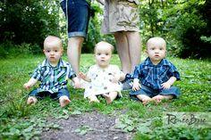 Triplet Family Photo Session