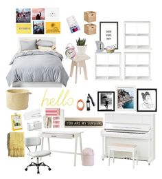 """""""YELLOW & PINK ROOM THEME!! THIS WILL HAPPEN IN THE NEAR FUTURE!!!"""" by drpalmer on Polyvore featuring interior, interiors, interior design, home, home decor, interior decorating, Room Essentials, Threshold, MikeyLins by Petal Lane and Block"""